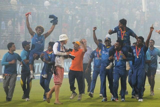 ICC World Twenty20 final: Kumar Sangakkara, Mahela Jayawardene get rousing send-off as Sri Lanka win maiden crown