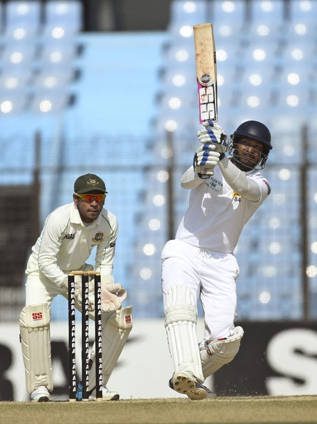Chittagong Test: Kumar Sangakkara's 35th ton helps Sri Lanka set 467-run target for Bangladesh