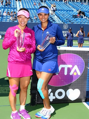 Sania Mirza-Jie Zheng win New Haven womens doubles title