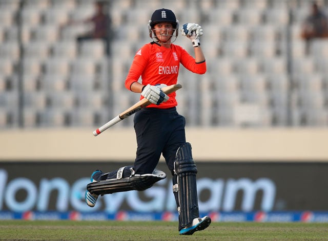 ICC Women's World Twenty20: England crush South Africa by nine wickets to enter final