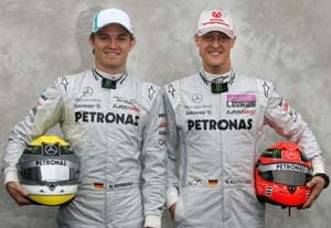 Schumacher, Rosberg tread with hope to China