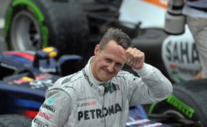 Michael Schumacher in seventh heaven at career's end