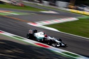 Michael Schumacher rolls back the years in Monza, tops first practice