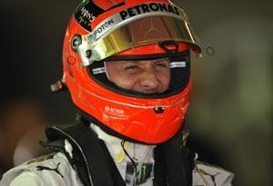 Chinese Grand Prix: Michael Schumacher quickest in Practice 2