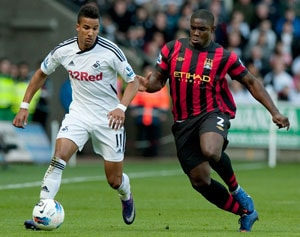Manchester City seal swoop for Swansea winger Scott Sinclair