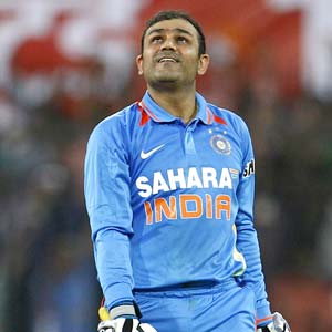 Virender Sehwag hits for six off the pitch too