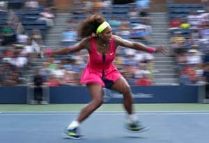 Serena Williams wins in straight sets at US Open
