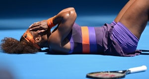 Serena Williams twists her ankle again, out of doubles event