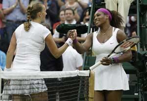 Serena Williams moves past Petra Kvitova
