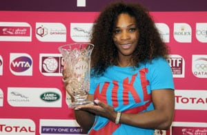 Serena aims to catch legends Martina Navratilova, Chris Evert