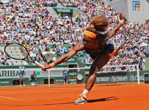 French Open: Serena Williams survives scare to reach semis