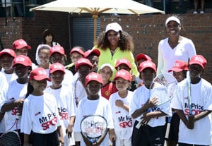 Soweto kids take lessons from Williams sisters