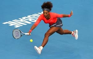 Serena Williams cruises into second round at Brisbane