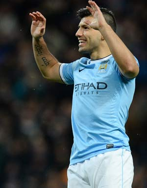 FA Cup: Sergio Aguero on mark as Manchester City march into round four