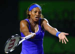 Serena Williams loses to Wozniacki at Key Biscayne
