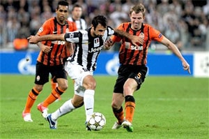 Shakhtar share points in Turin scare for Juve