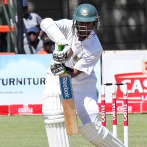 Zimbabwe ahead despite late flurry of wickets