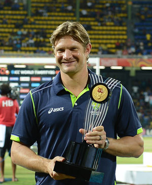 World T20: Shane Watson named player of the tournament