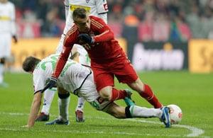 Bayern draws 1-1 with 'Gladbach in Bundesliga