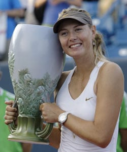 Sharapova wins Cincinnati WTA title