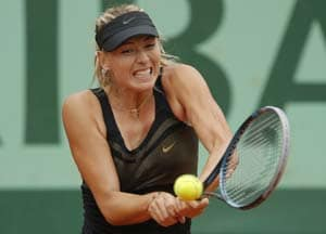 Sharapova wins easily, again, at French Open