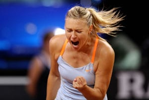 Gritty Maria Sharapova books Stuttgart semis berth