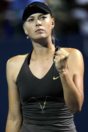 Sharapova tops Hantuchova, makes Stanford quarters