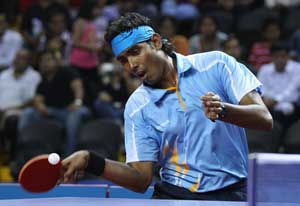 CWG 2014: Sharath Kamal, Shamini Kumaresan in Table Tennis Mixed Doubles Quarters