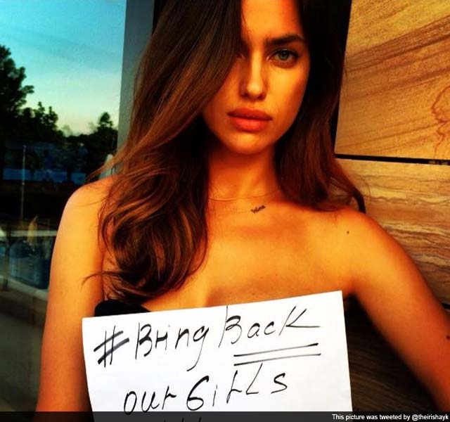Cristiano Ronaldo's Girlfriend Irina Shayk Goes Topless For Nigerian Girls Kidnapped by Boko Haram