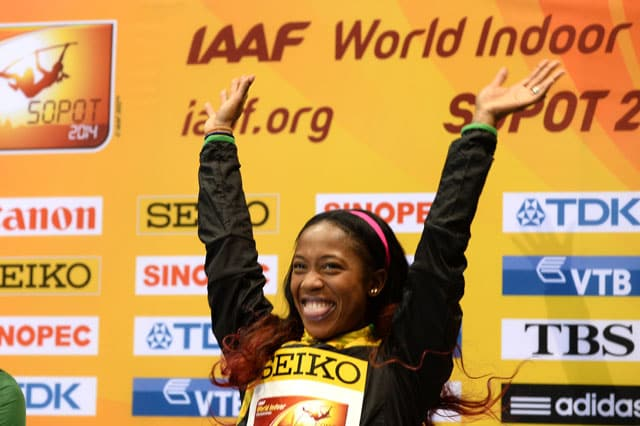 Jamaican athlete Shelly-Ann Fraser-Pryce wins women's world indoor 60m