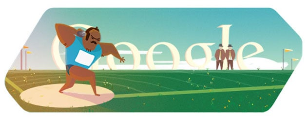 London 2012 Shot Put: Google Doodle's Olympic Athletics debut
