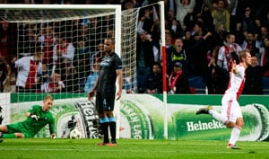 Manchester City face elimination after Ajax defeat