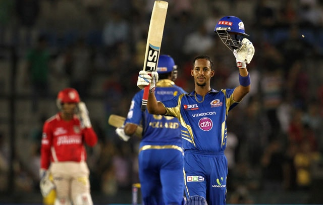 Lendl Simmons Slams First Ton of IPL 7 as Mumbai Indians Rout Kings XI Punjab