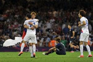 London 2012: South Korean joy at first football medal