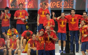 Spain has eyes set on going down as greatest team