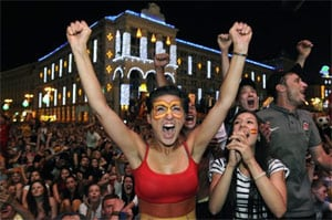 Record numbers watch Euro victory in Spain