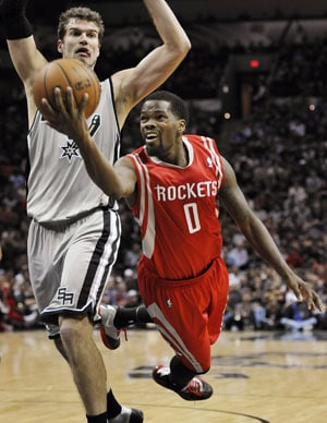 NBA: Houston Rockets hold on the beat San Antonio Spurs 112-106