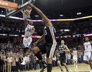 Memphis Grizzlies edge San Antonio Spurs in overtime 101-98