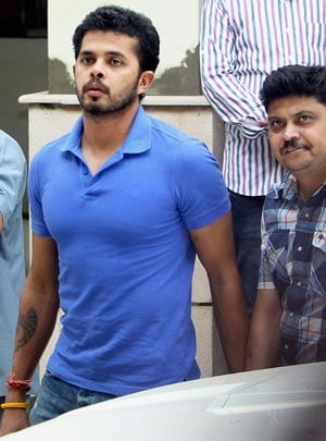 S. Sreesanth arrives for BCCI disciplinary panel meet