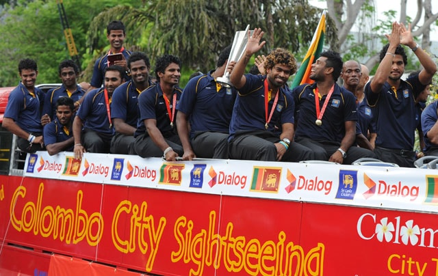 Sri Lankan team returns home to celebrate ICC World Twenty20 triumph
