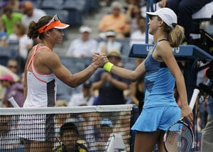 Day 1: Samanth Stosur advances at rainy US Open