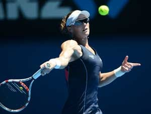 Samantha Stosur has it easy in the opening round of Australian Open
