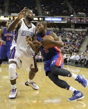 Stuckey, Monroe lead Pistons past Kings 124-112