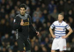 Liverpool beats QPR 3-0 to boost ill Rodgers