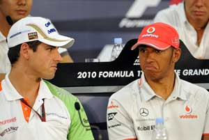 Adrian Sutil may not reconcile with Lewis Hamilton