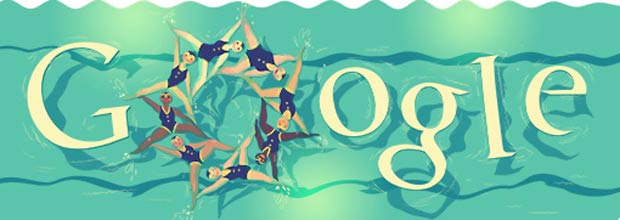 Google's new Doodle on synchronised swimming