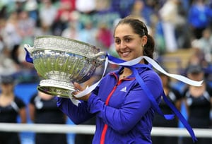 Tamira Paszek beats Angelique Kerber for Eastbourne title
