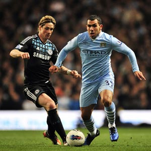 EPL: Man City beat Chelsea after emphatic Tevez return