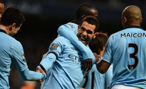 Sergio Aguero, Carlos Tevez claim doubles as Manchester City crush Aston Villa