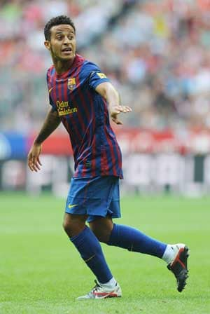 Barcelona's Thiago in Spain squad to play Italy